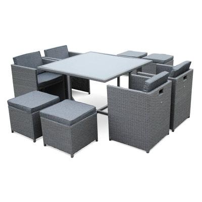 Table de jardin tresse gris | La Redoute