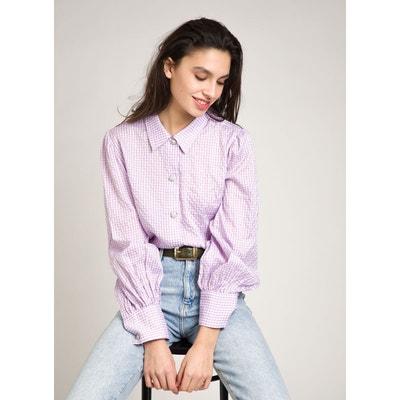 manches 3//4 taille 48 violet neuve chemise chemisier léger