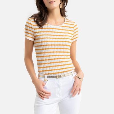 T-shirt met fantasie strepen, korte mouwen T-shirt met fantasie strepen, korte mouwen ANNE WEYBURN