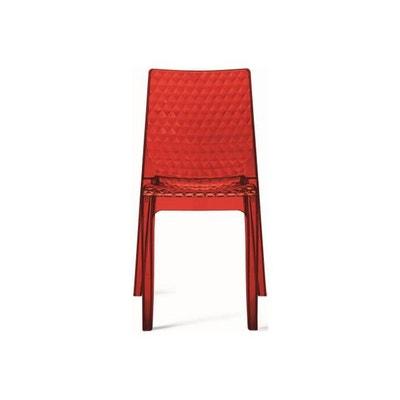 Chaise Transparente Rouge DELPHINE DECLIKDECO