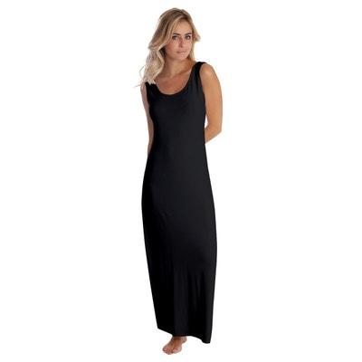 dd1e7a759d Robe longue col danseuse sans manches en modal GILDA Robe longue col  danseuse sans manches en
