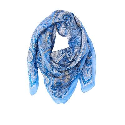 Vierkante sjaal in zijde met kasjmierprint Vierkante sjaal in zijde met kasjmierprint LA REDOUTE COLLECTIONS