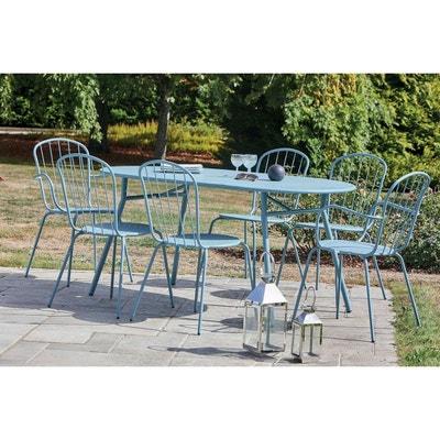 Salon de jardin bleu   La Redoute