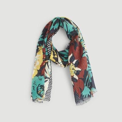 Etole en laine imprimée fleurs Etole en laine imprimée fleurs MONOPRIX d7258b953c8