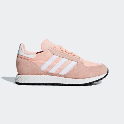 Basket adidas blanche et rose   La Redoute