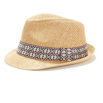 9a9cbfa3173a8 Chapeau avec galon motif ethnique Chapeau avec galon motif ethnique LA  REDOUTE COLLECTIONS