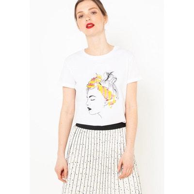 85651c82b78 T-shirt motif coton CAMAIEU