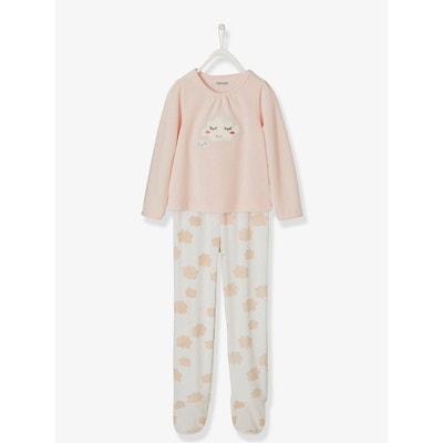 37e8f5c8b65b7 Pyjama velours fille avec pieds Pyjama velours fille avec pieds VERTBAUDET