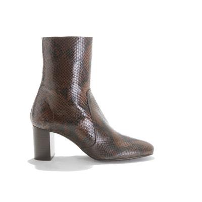 Boots met hoge hak, in leer Didlaneo Boots met hoge hak, in leer Didlaneo JONAK