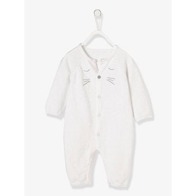 a00d2a648fe75 Combinaison tricot coton bio bébé naissance VERTBAUDET