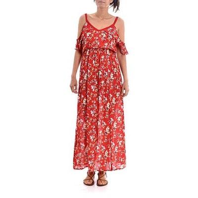 Robe bordeaux imprimee fleurs pepaloves