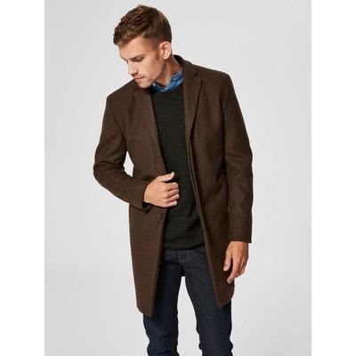 Manteau laine marron en solde   La Redoute abdc60ce4f72