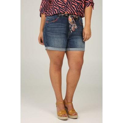 ee166f5b7b Short en jeans foulard ceinture Short en jeans foulard ceinture PAPRIKA