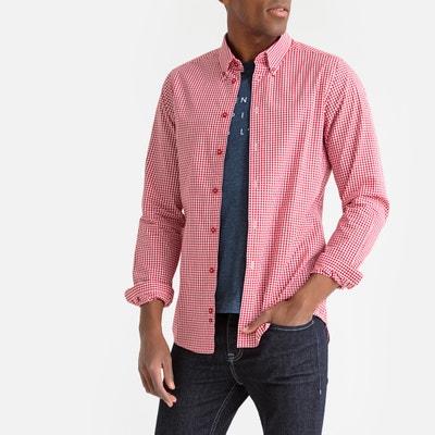 8055f27a13f Рубашка узкого покроя с рисунком в клетку виши Рубашка узкого покроя с  рисунком в клетку виши