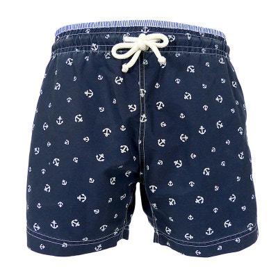 Maillot Short de bain homme New jim Ancres blanches bleu marine LES LOULOUS  DE LA PLAGE 49a9dd62fd1