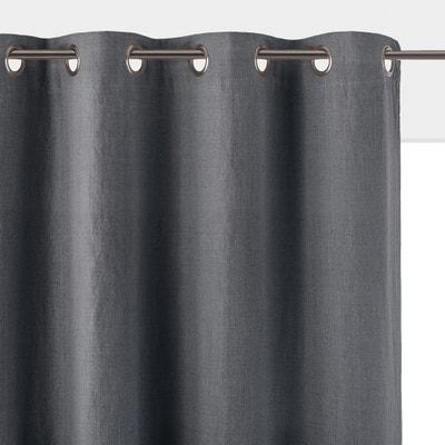 70d4af10505 Cortina opaca de lino lavado con ojales ONEGA LA REDOUTE INTERIEURS