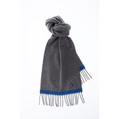 Echarpe a franges bicolore laine vierge CARNET DE VOL 44908c82541