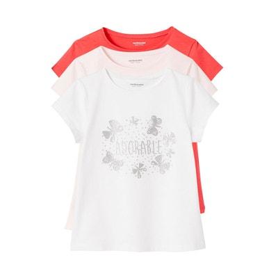9270f14f35b Lot de 3 T-shirts fille manches courtes Lot de 3 T-shirts fille. VERTBAUDET