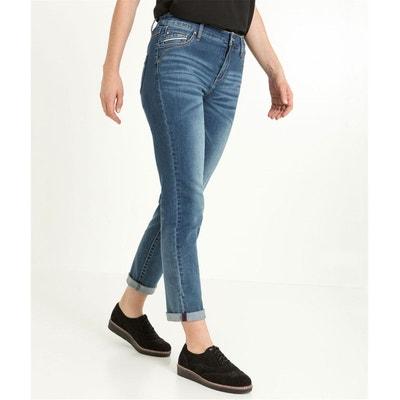 Pantalon raccourci denim stretch GRAIN DE MALICE efdcafd07b9