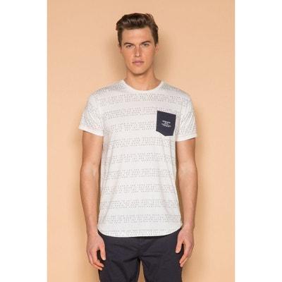1df9daa4b5f T-shirt à texte et poche contrastée SCRIPT DEELUXE