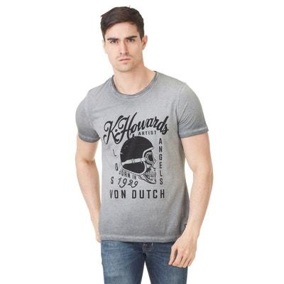 91a89522b30 T-shirt homme Von Dutch Cortes 19 Gris Anthracite T-shirt homme Von