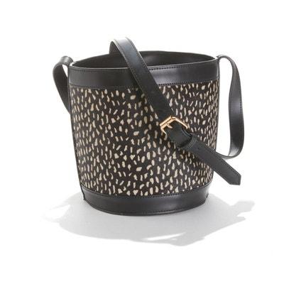 8b5d875ce7681 Sac seau en cuir façon léopard Sac seau en cuir façon léopard LA REDOUTE  COLLECTIONS