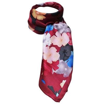7e1694d264f Foulard soie a fleurs Foulard soie a fleurs CHAPEAU-TENDANCE