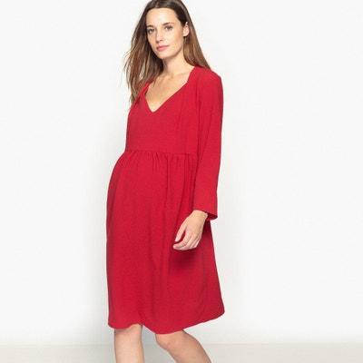 449bf15a5806a6c Платье с V-образным вырезом для периода беременности Платье с V-образным  вырезом для