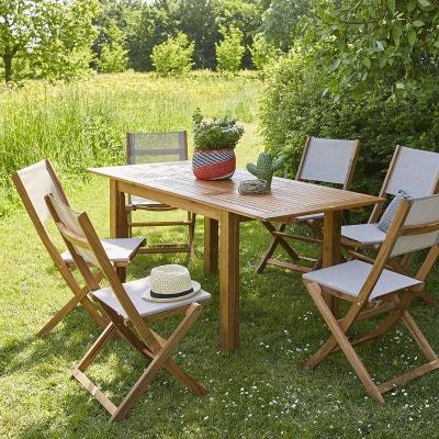 Ensemble table, chaise de jardin en solde BOIS DESSUS BOIS DESSOUS ...