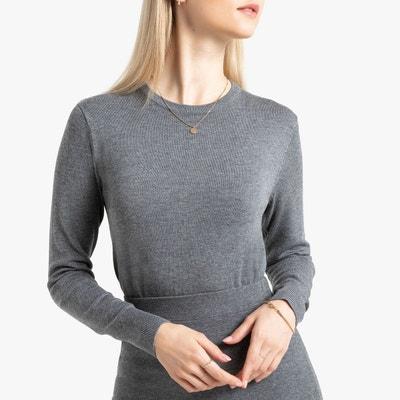 chercher fournir un grand choix de charme de coût Pull gris chine et noir femme | La Redoute