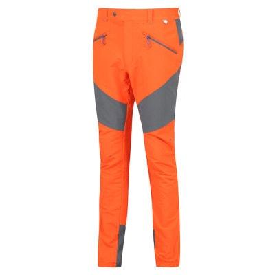 Regatta Sungari Stretch Homme Randonnée Marche Pantalon Orange Protection UV UPF40+
