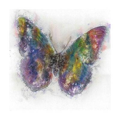 2ecc53da1e813b peinture murale huile papillon 80cm x 80cm ARTE ESPINA
