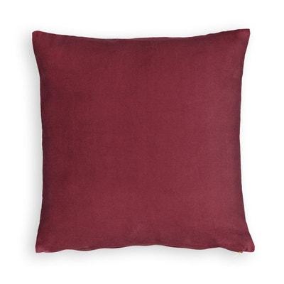 Coussin 50x50 rouge | La Redoute