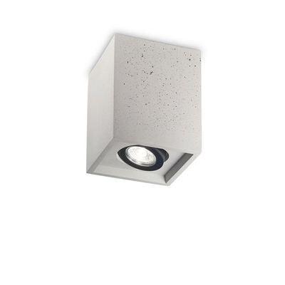 various colors d36d2 0aba4 Plafonnier OAK PL1 SQUARE Ciment 35W max - IDEAL LUX - 150475 BOUTICA-DESIGN