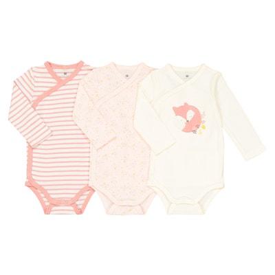 Lote de 3 bodies para recién nacido de algodón 15792a01004f