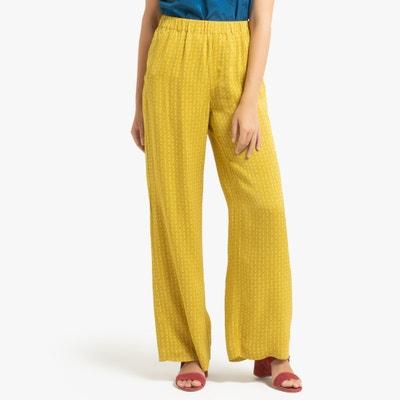 Wijde bedrukte broek met elastische tailleband Wijde bedrukte broek met elastische tailleband SAMSOE AND SAMSOE