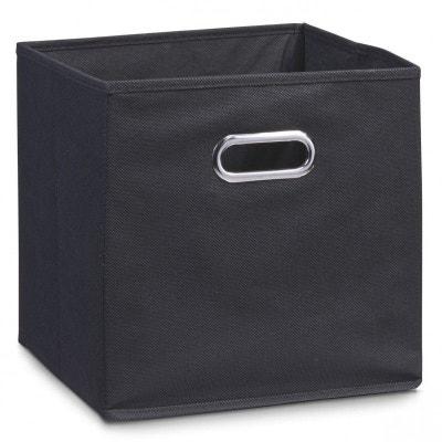 Boîte de rangement en tissu noir, 28 x 28 x 28 cm ZELLER PRESENT 5dc2bd340d58