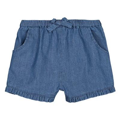 Short bloomer en jean volanté 1 mois-3 ans Short bloomer en jean volanté 1.  Vente Flash. LA REDOUTE COLLECTIONS fb9fdd5e1c5