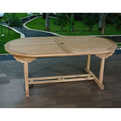 Table de jardin 110 avec rallonge   La Redoute