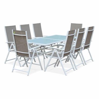 Salon de jardin aluminium 8 places | La Redoute