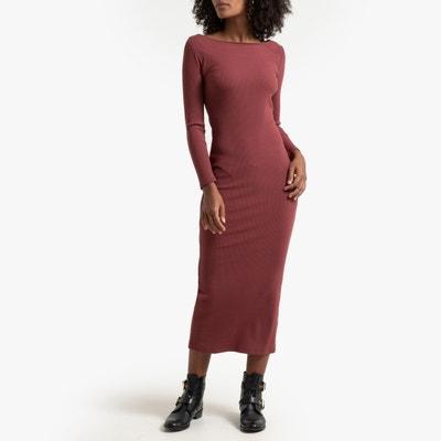Lange aansluitende jurk in tricot Lange aansluitende jurk in tricot LA REDOUTE COLLECTIONS