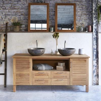 Meuble salle de bain en bois avec vasque | La Redoute