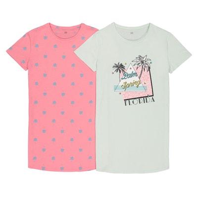 434e0c6dc Lote de 2 camisetas big 100% algodón 10-16 años LA REDOUTE COLLECTIONS