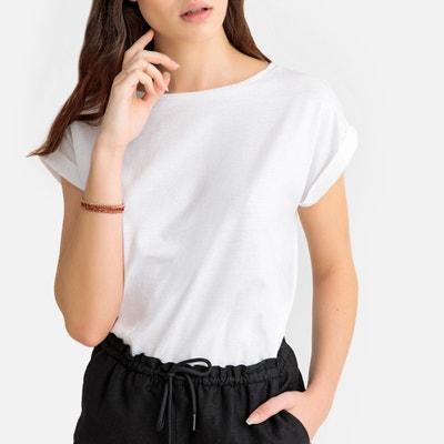 28fe71d4296 Organic Cotton Crew Neck T-Shirt LA REDOUTE COLLECTIONS