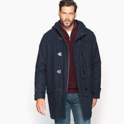 006ce9c1000b Duffle-coat à capuche en drap de laine Duffle-coat à capuche en drap