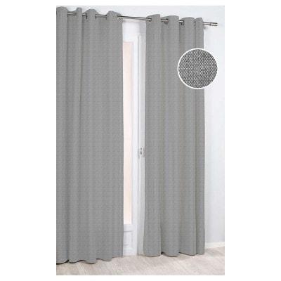 rideau ameublement gris la redoute. Black Bedroom Furniture Sets. Home Design Ideas