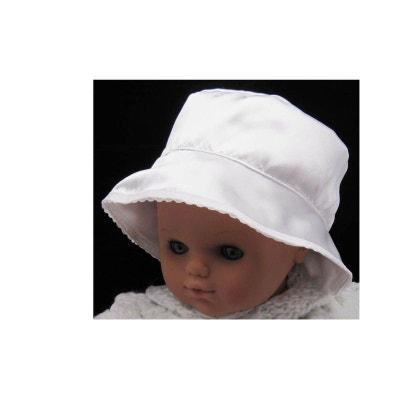 8513b869a64f Chapeau baptême satin, fille, du 3 mois au 8 ans POUSSIN BLEU