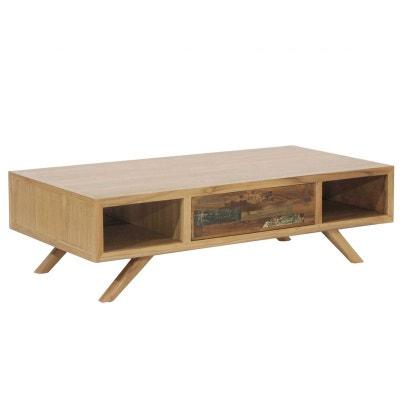 5ac2675cec9b6 Table basse teck recyclé colorée 1 tiroir LOMBOK Table basse teck recyclé  colorée 1 tiroir LOMBOK. PIER IMPORT