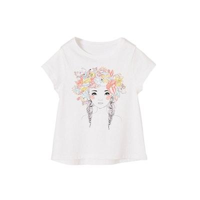 4e0315c6cc2 Tee shirt manche courte fille - Vêtements enfant 3-16 ans Vertbaudet ...