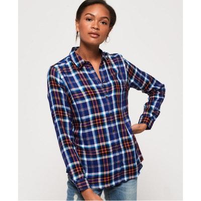 offrir des rabais pas cher arrive Chemise à carreaux bleu femme   La Redoute